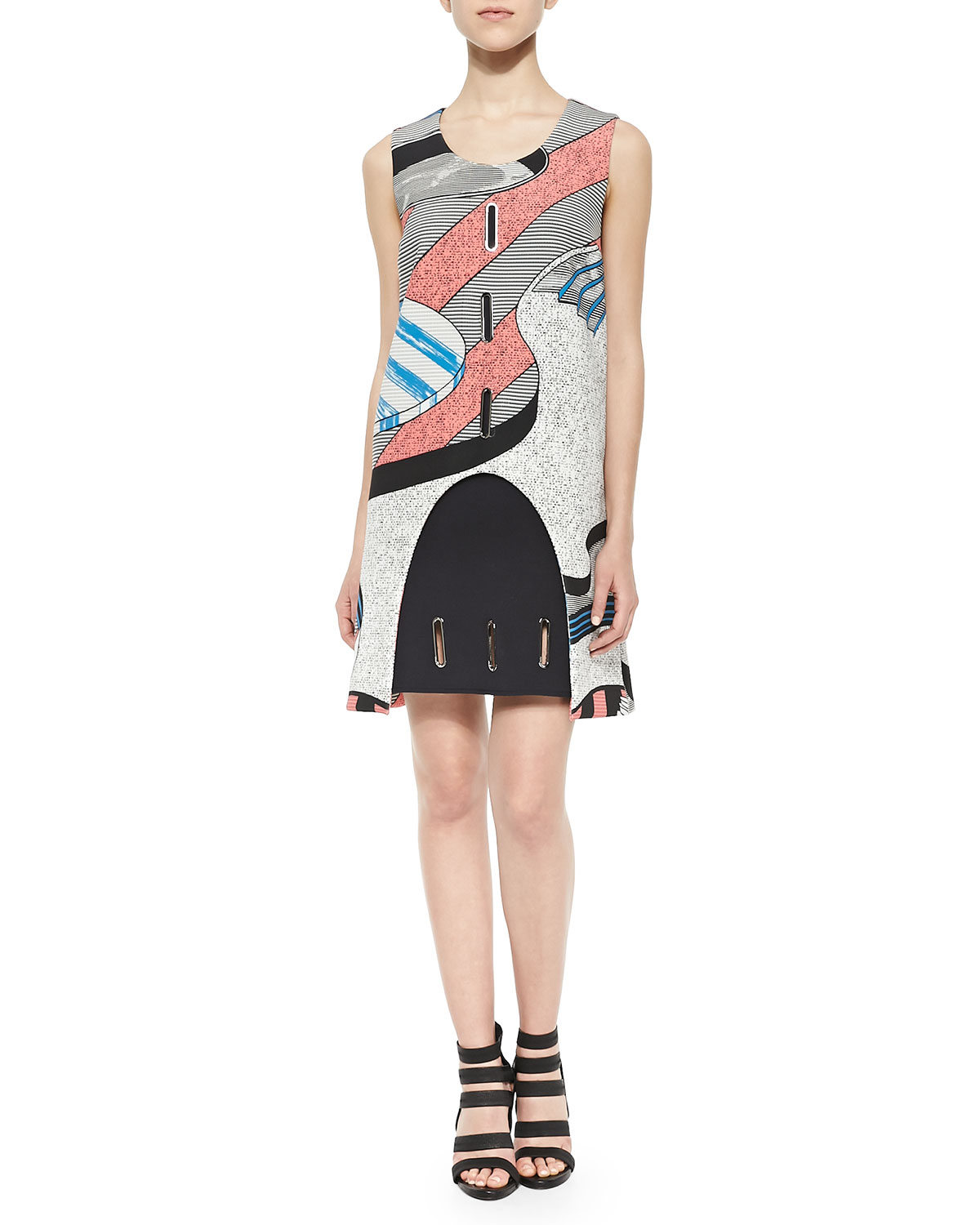 Opening Ceremony Fall 2015: Opening Ceremony Perspective Pools Cutout Grommet Dress