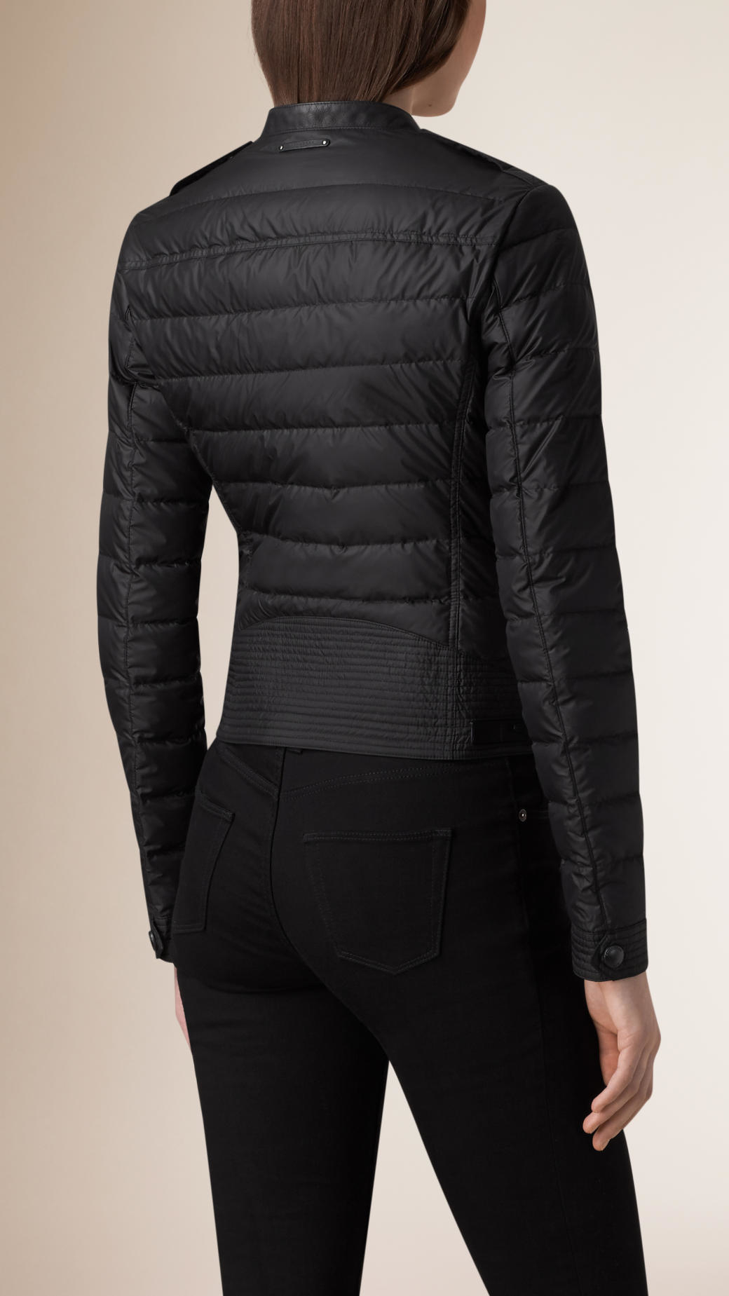 Burberry Cropped Down Filled Puffer Jacket In Black Lyst