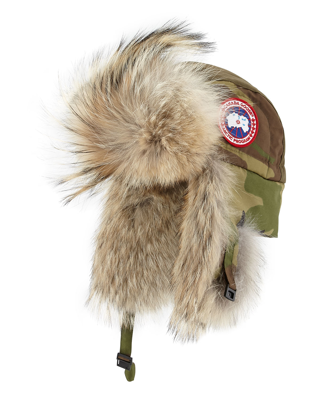 Canada Goose Coyote Fur Aviator Hat In Black Lyst
