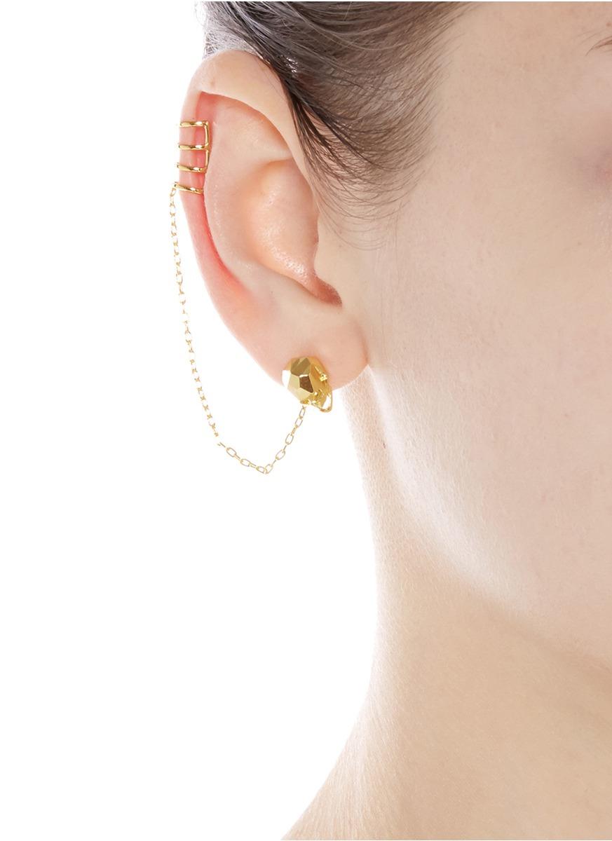Joomi Lim 'london Calling' Skull Earring And Cuff Set in Metallic