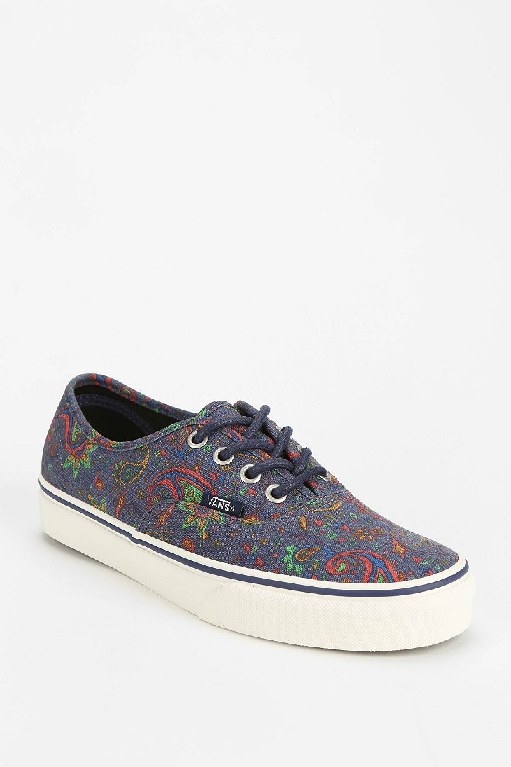 vans authentic paisley womens low top sneaker in. Black Bedroom Furniture Sets. Home Design Ideas