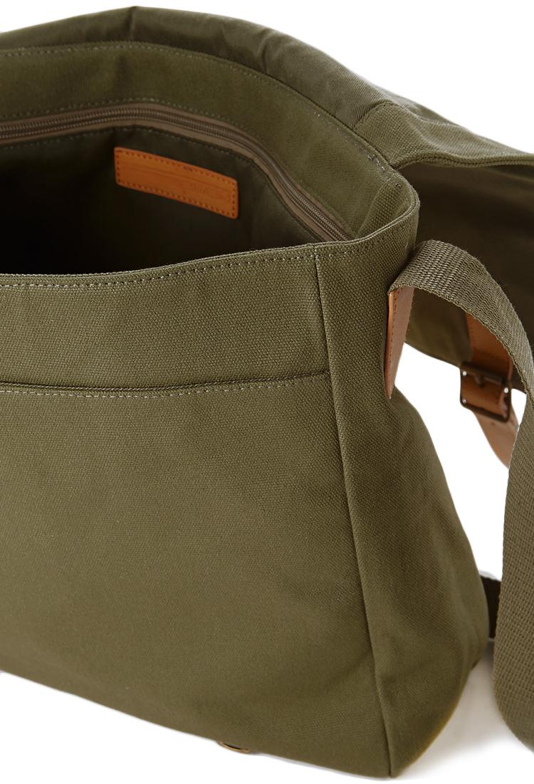 Forever 21 Canvas Messenger Bag In Green For Men Lyst