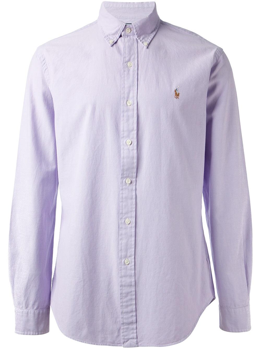 Polo ralph lauren Button Down Shirt in Purple for Men | Lyst