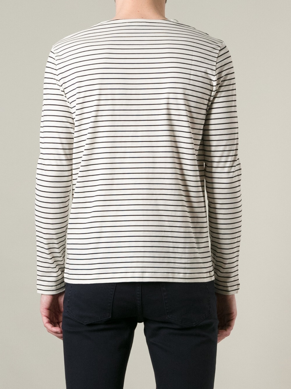 Lyst a p c mariniere tshirt in white for men for Apc white t shirt