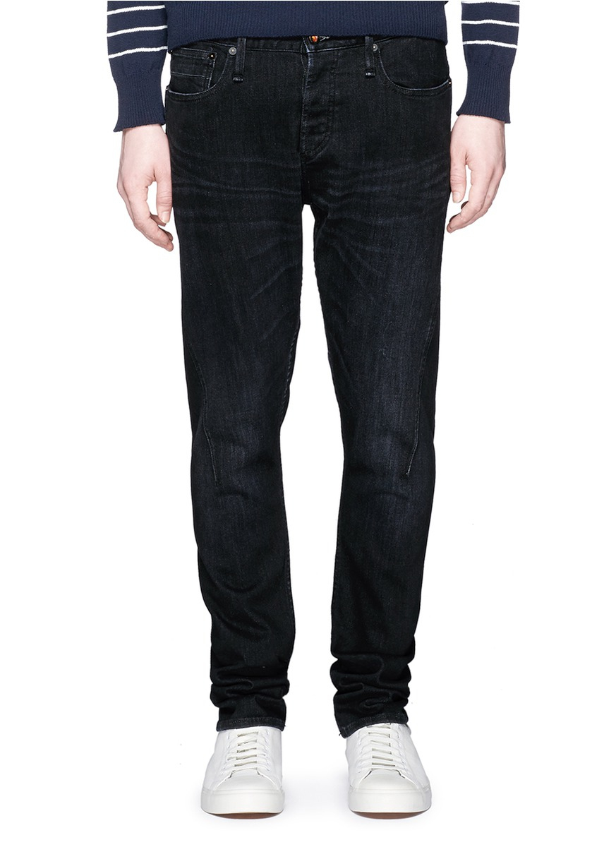 Denham 39;cross39; Carrot Fit Jeans in Black for Men  Lyst