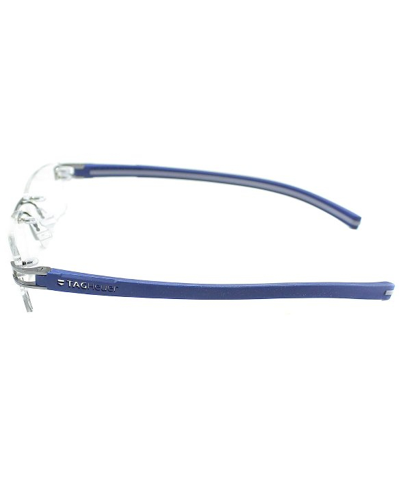 Lyst - Tag Heuer Tag 7641 007 Pure Blue Metal Rimless Eyeglasses in ...