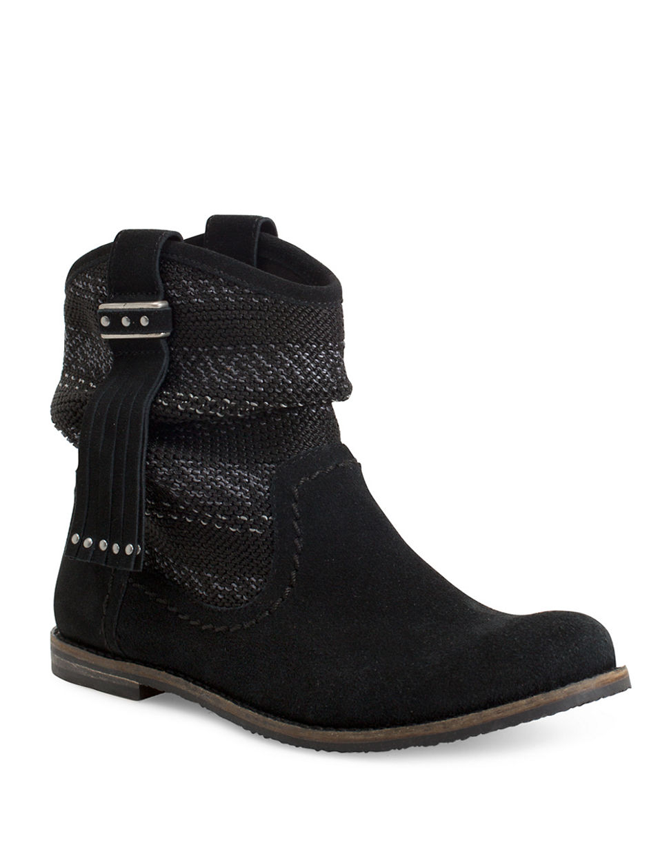the sak jezebelle suede and knit boots in black lyst