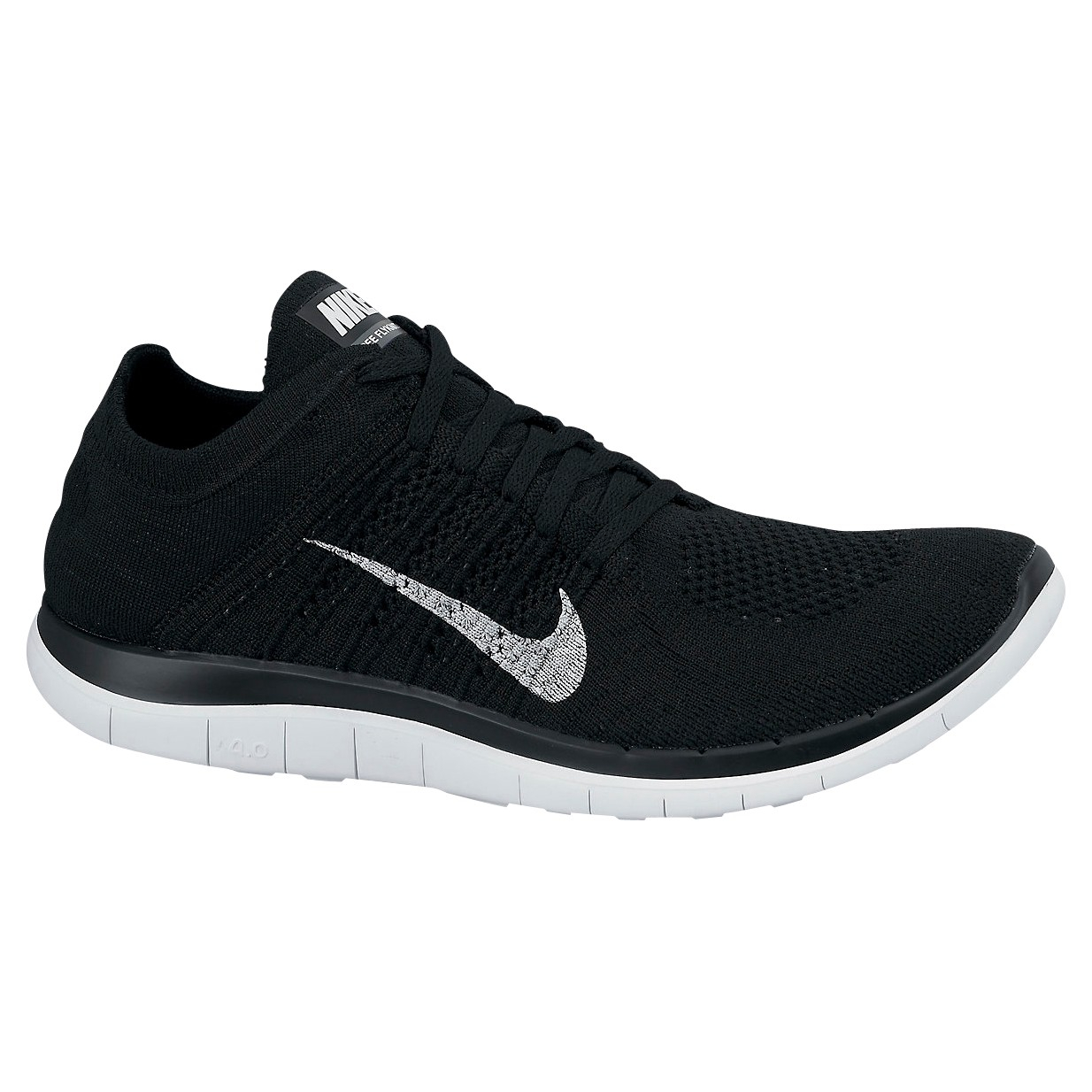 nike 39 free flyknit 4 0 39 trainers in black for men lyst. Black Bedroom Furniture Sets. Home Design Ideas