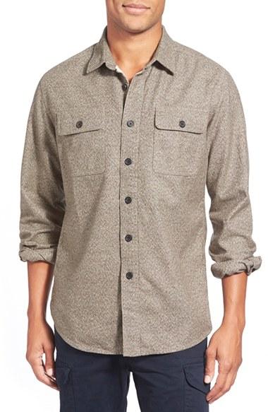 Lyst grayers 39 heritage 39 trim fit flannel sport shirt in for Trim fit flannel shirts
