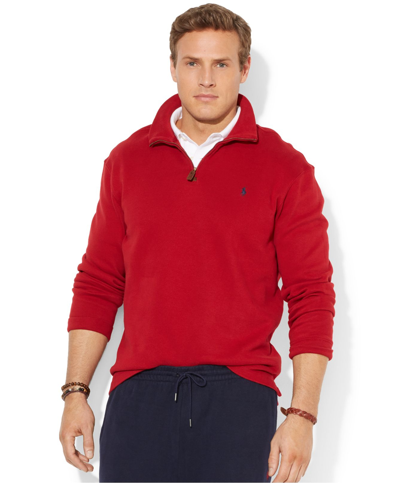 Polo Ralph Lauren French-Rib Full-Zip Red Hoodie | Euro Star Limos