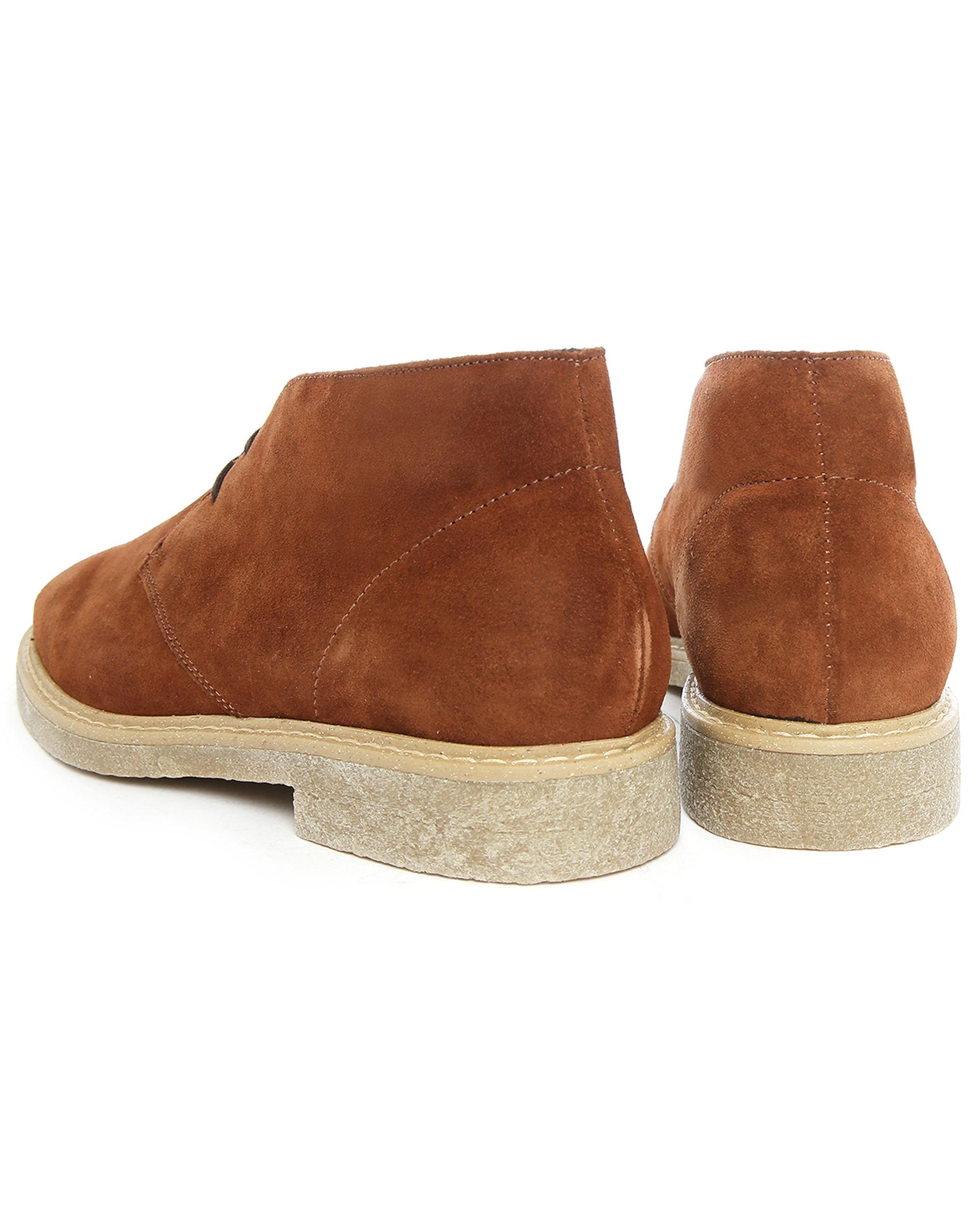m studio valentin cognac suede desert boots in brown for