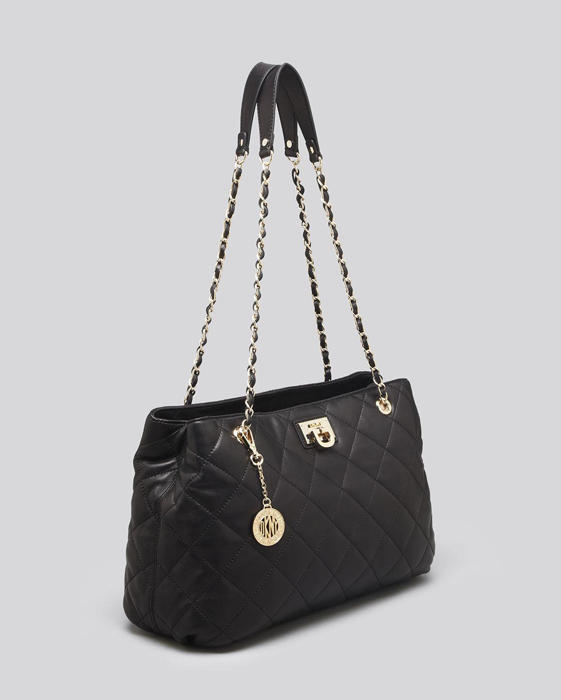 Dkny Tote - Gansevoort Quilted Nappa Shopper in Black | Lyst : dkny black quilted handbag - Adamdwight.com