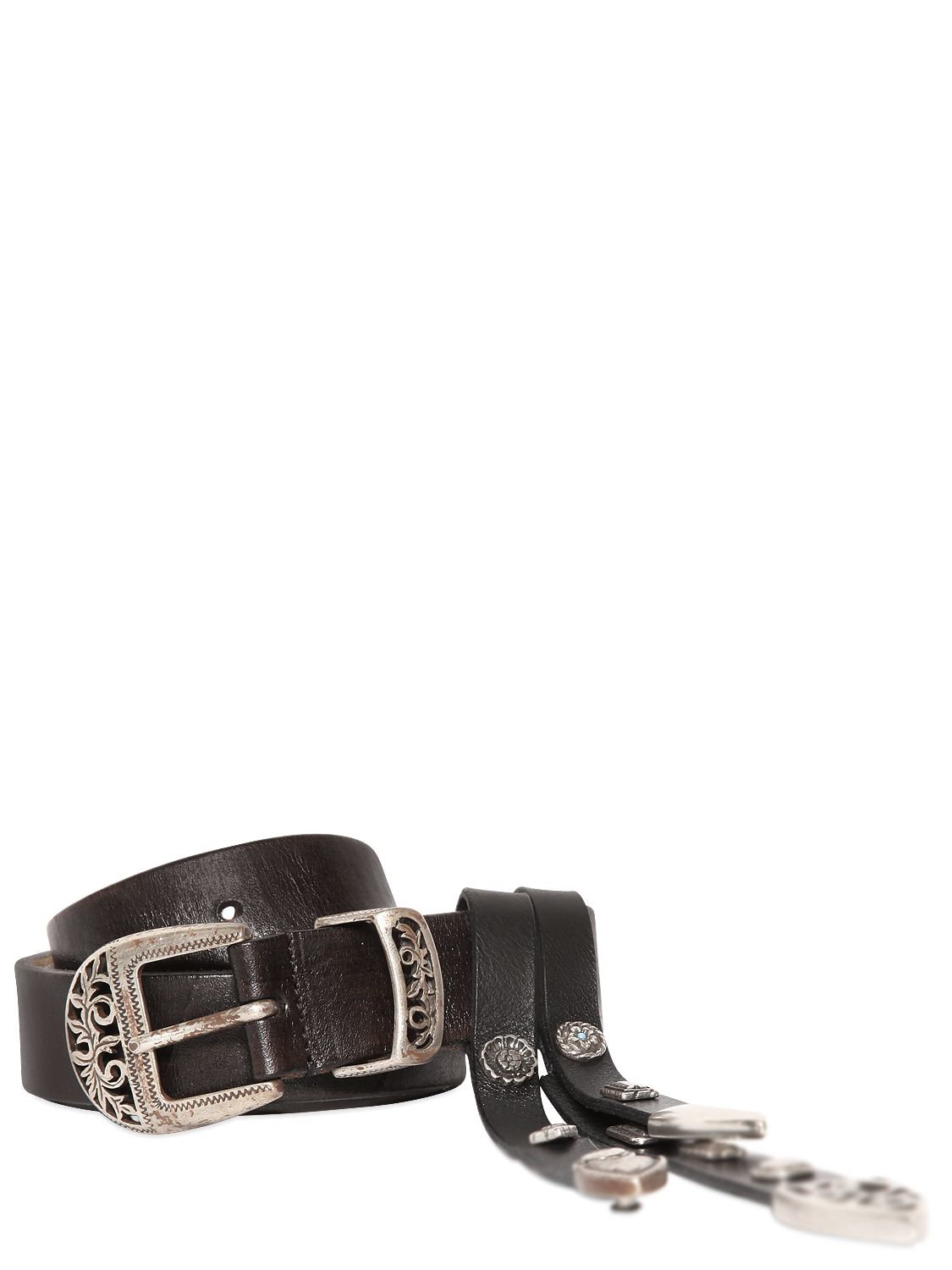 htc trading company smooth leather belt with