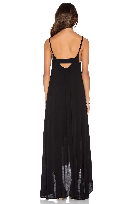 Lyst Pink Stitch Resort Crepe Maxi Dress In Black