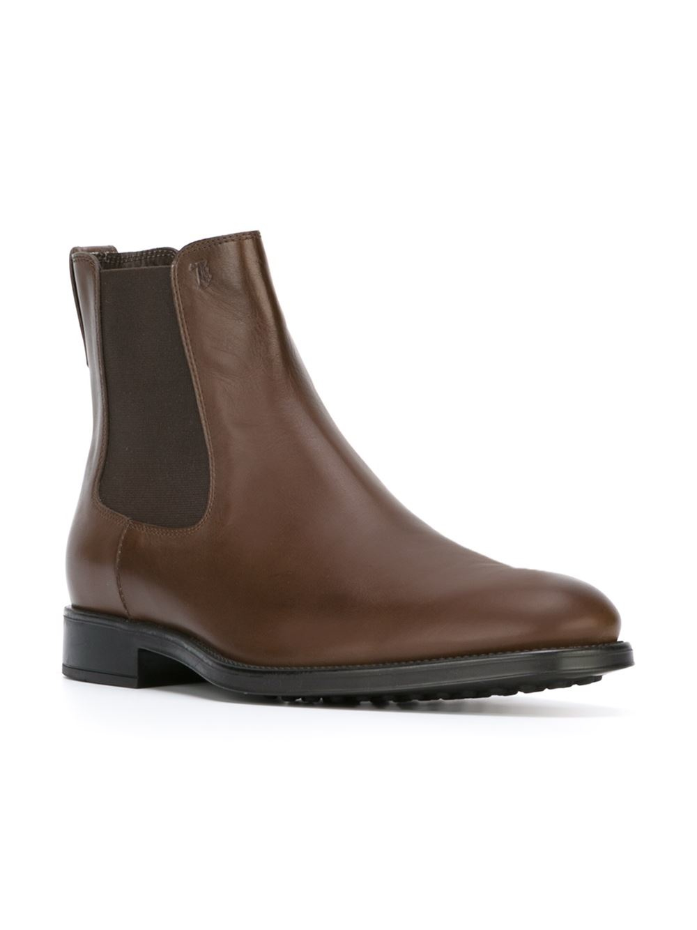Lyst Tod S Chelsea Ankle Boots In Brown For Men