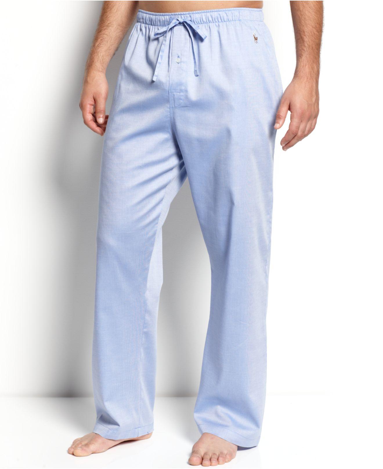 b4e10c2c8c12 Polo Ralph Lauren Men's Woven Oxford Pajama Pants in Blue for Men - Lyst