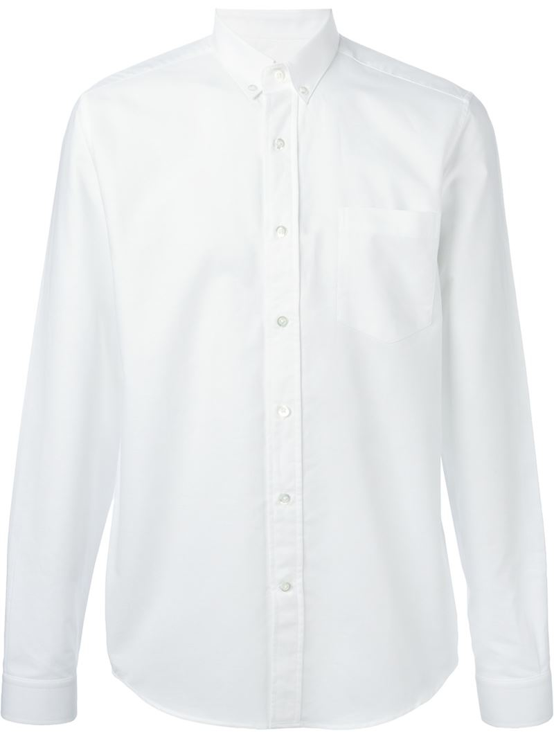 Lyst ami button down shirt in white for men for White button down shirt mens