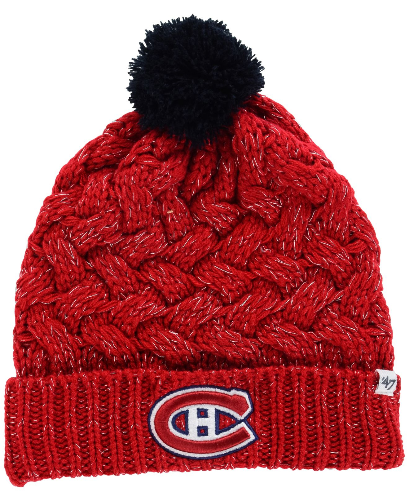 078e1ca075e Lyst - 47 Brand Women s Montreal Canadiens Fiona Pom Knit Hat in Red