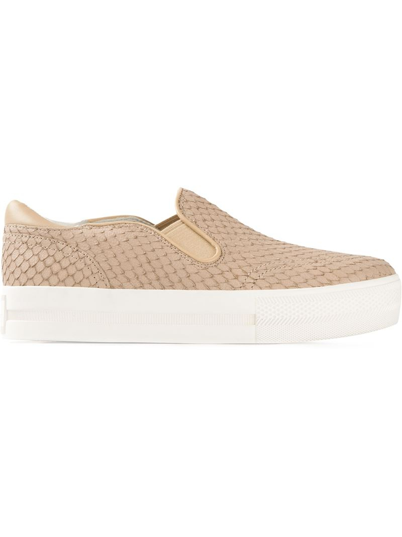 Ash Jungle Slip-On Sneakers in Natural
