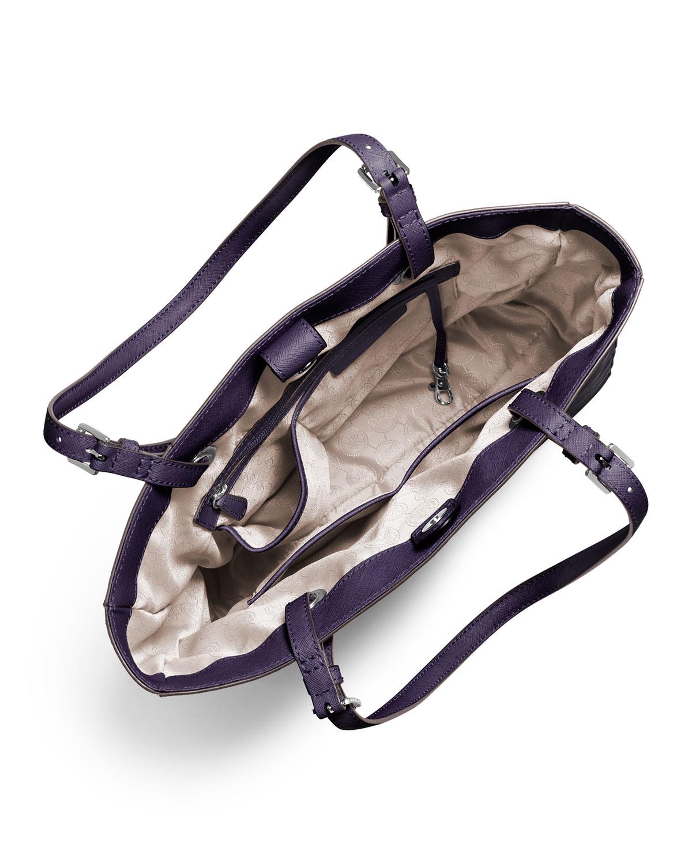 c27cafeb5ac4 MICHAEL Michael Kors Purple Jet Set Travel Medium Multifunction Zip Tote Bag