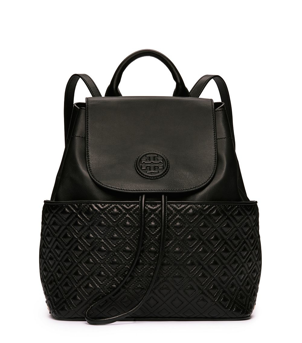 Lyst Tory Burch Marion Quilted Backpack In Black