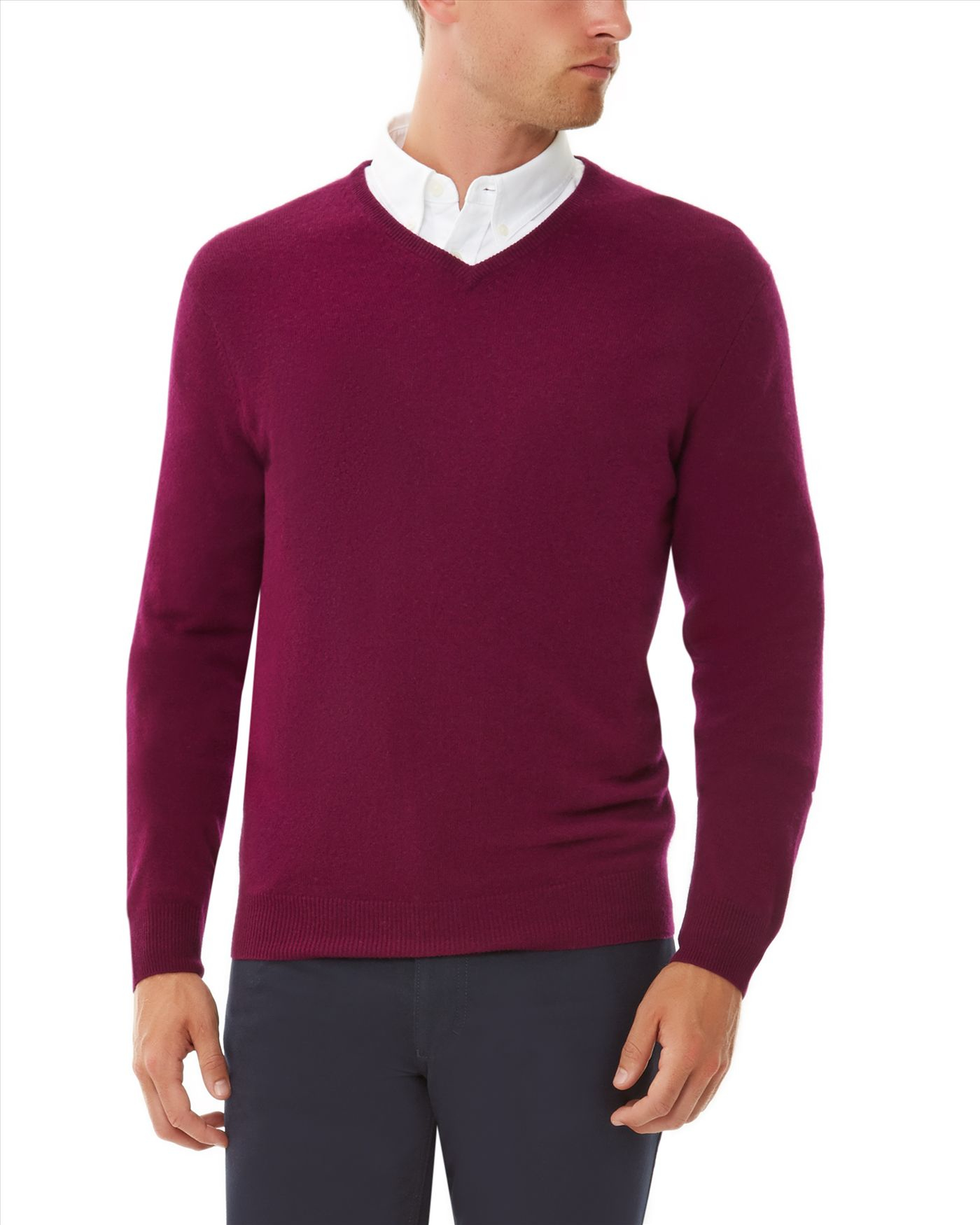 Jaeger Cashmere V-neck Sweater in Plum (Purple) for Men
