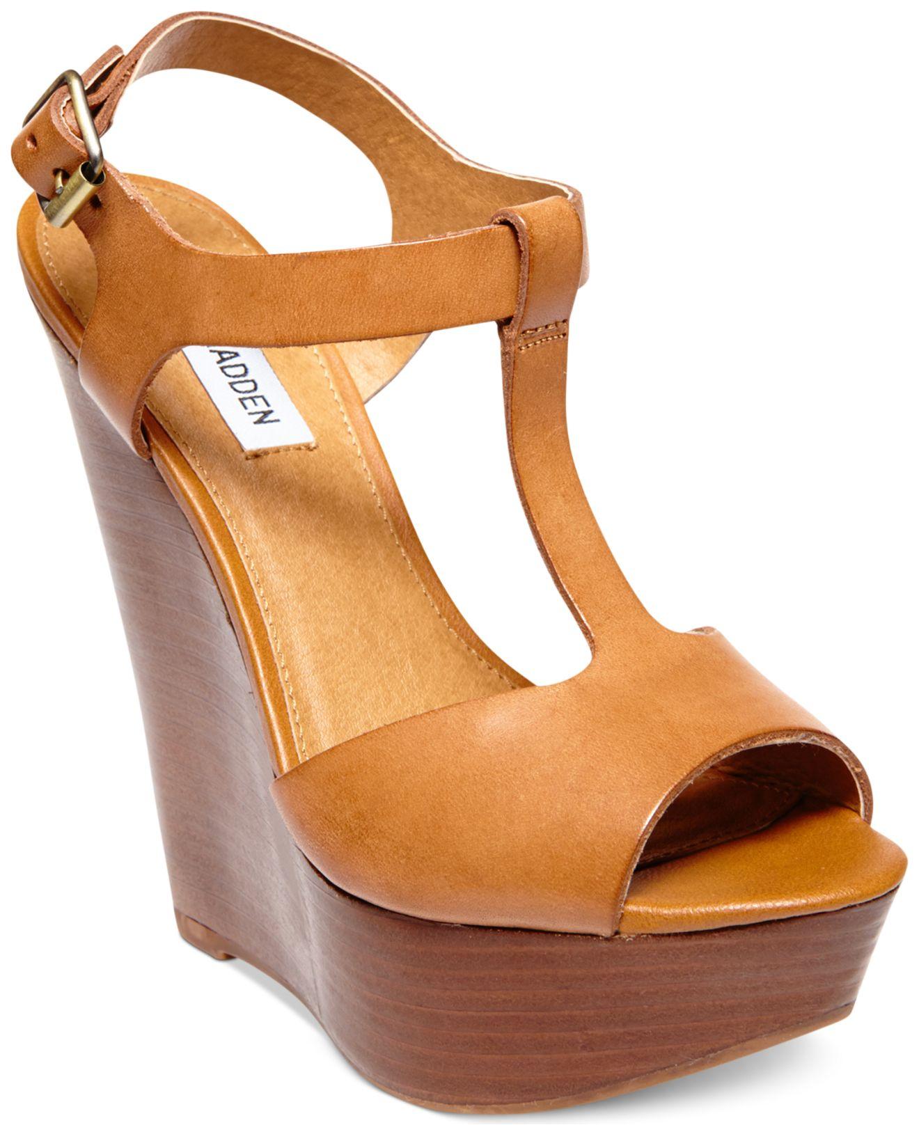 f518021caac Steve Madden Orange Women'S Bittles Platform Wedge Sandals