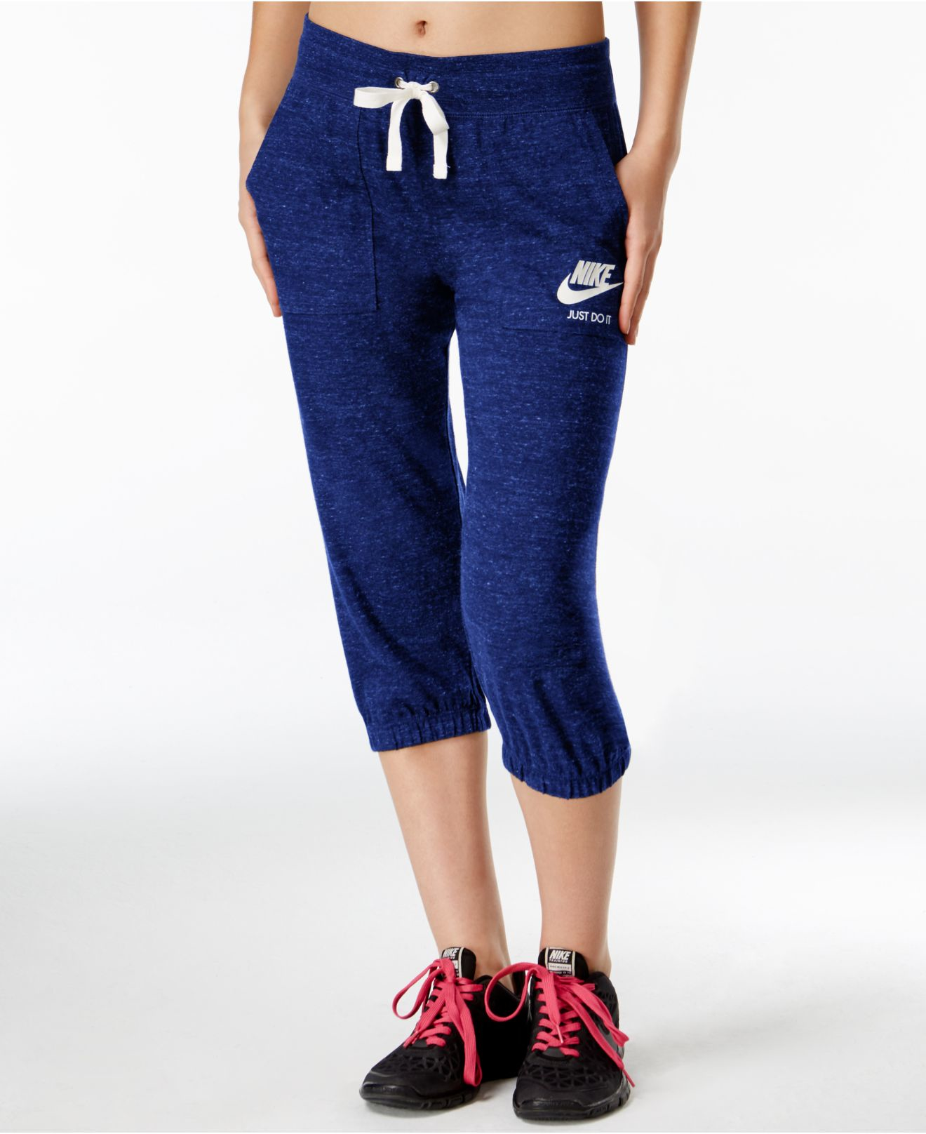 Nike Gym Vintage Capri Pants in Blue | Lyst