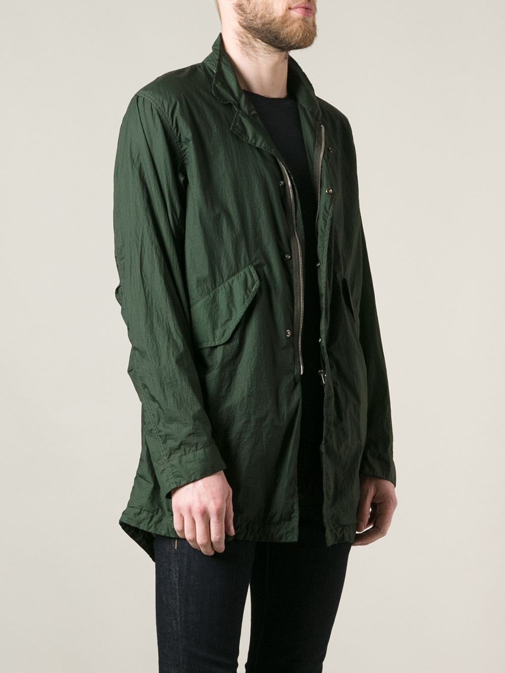 C P Company Fishtail Parka In Green For Men Lyst