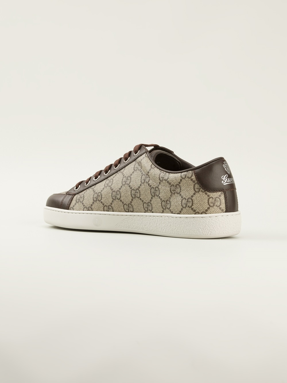 ff43f8ad Gucci Brown Logo Trainers for men