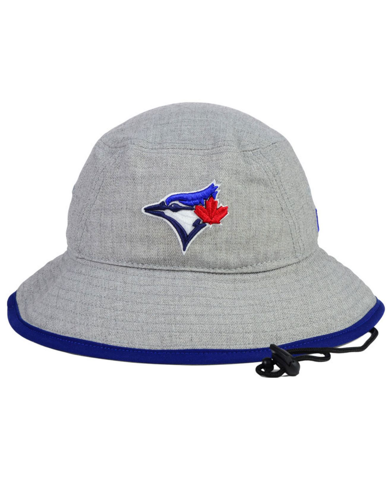 sports shoes ae8c4 a6bd4 ... denmark lyst ktz toronto blue jays heather tipped bucket hat in gray  for men c823c 00b6c