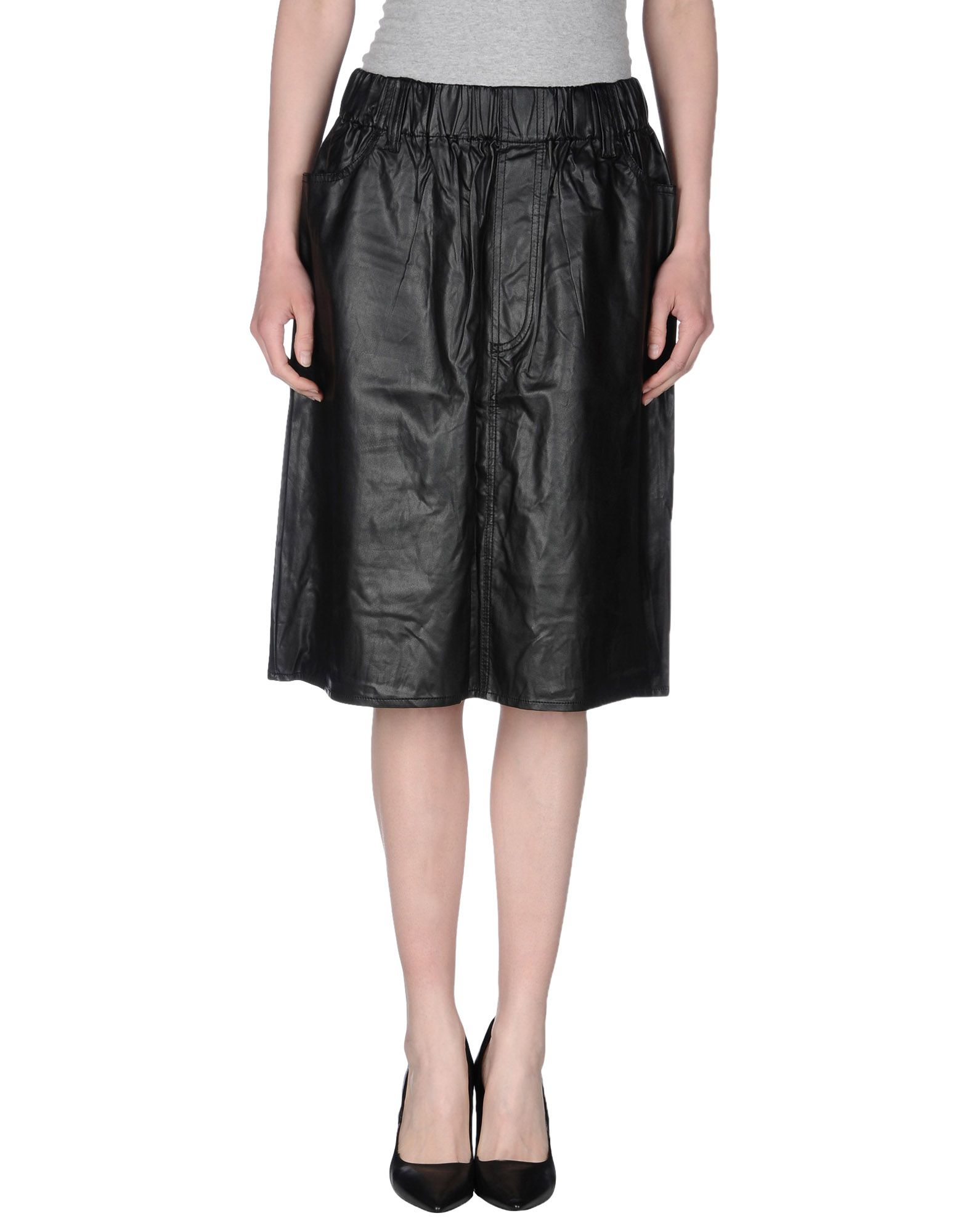 cheap monday knee length skirt in black lyst