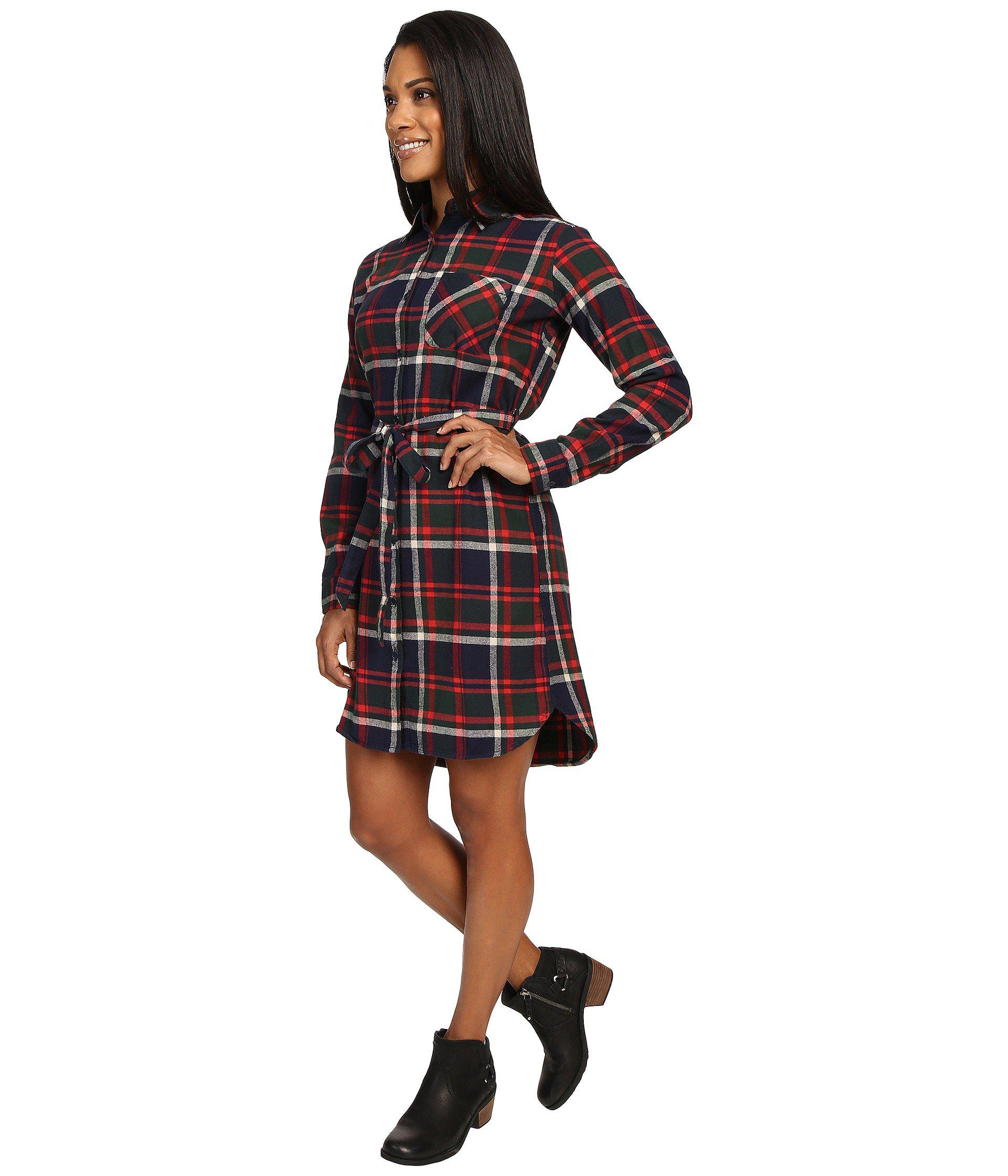 a026731968 Lyst - United By Blue Murray Plaid Dress in Red