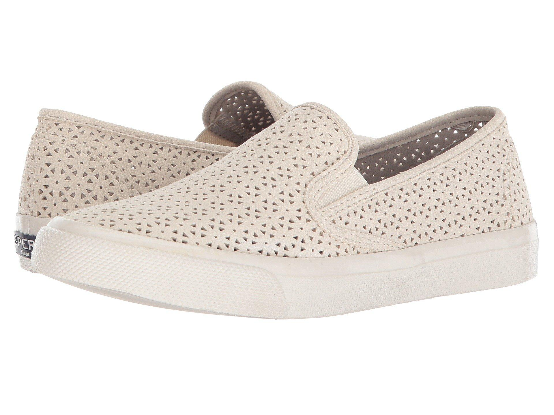 f3247971c046 Lyst - Sperry Top-Sider Seaside Nautical Perf in White