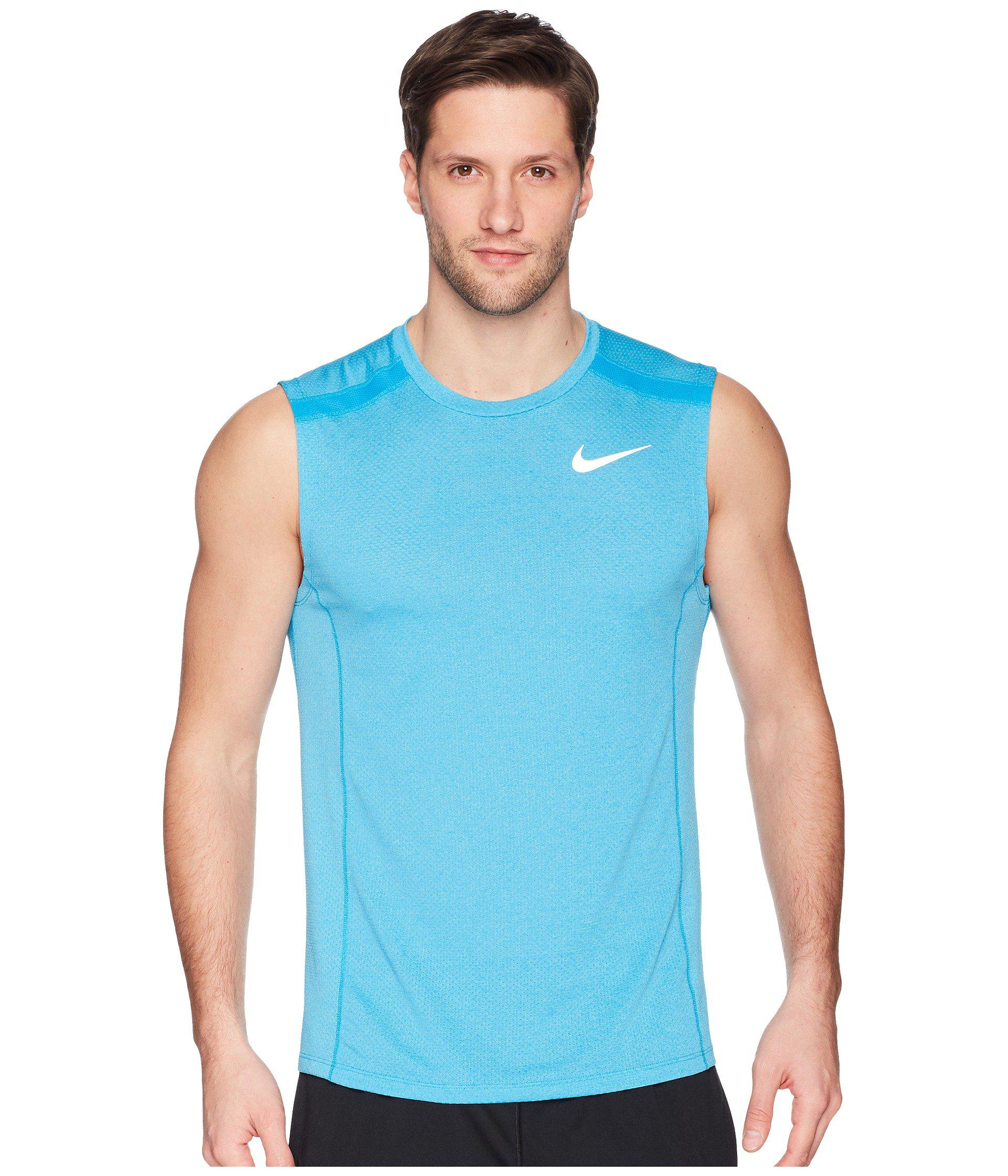 30bfa56aba7a21 Lyst - Nike Breathe Cool Miler Top Sleeveless in Blue for Men - Save 17%