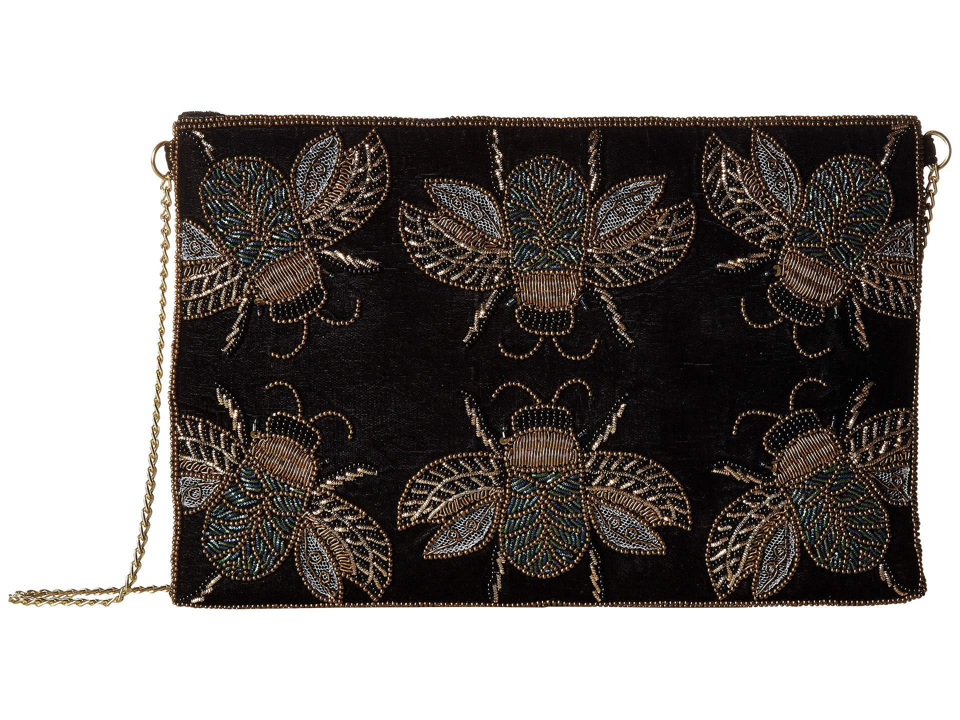 e26ae3d3529d Lyst - San Diego Hat Company Bsb3549 Beaded Bugs On Velvet Clutch ...