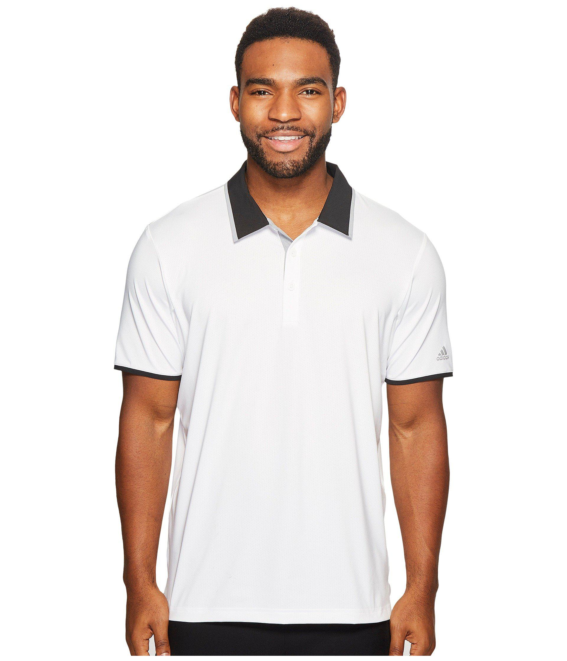 e61ac46687e Lyst - adidas Originals Climacool Performance Polo in White for Men ...