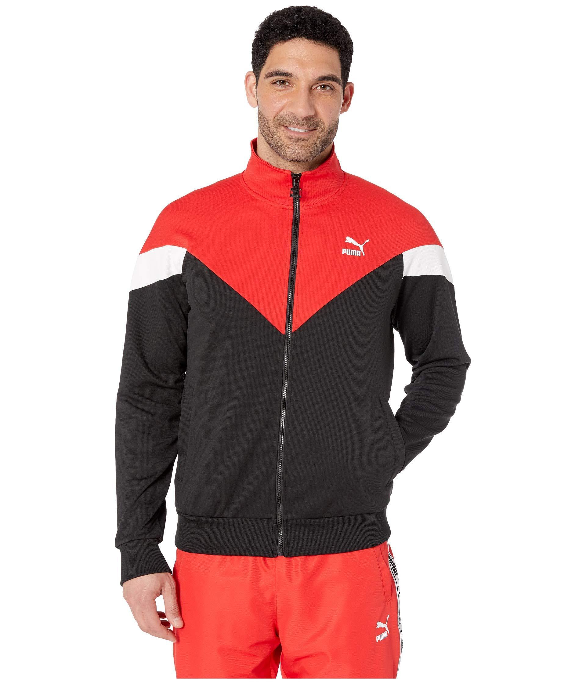c93bb1fd8181 PUMA - Black Iconic Mcs Track Jacket Mesh for Men - Lyst. View fullscreen
