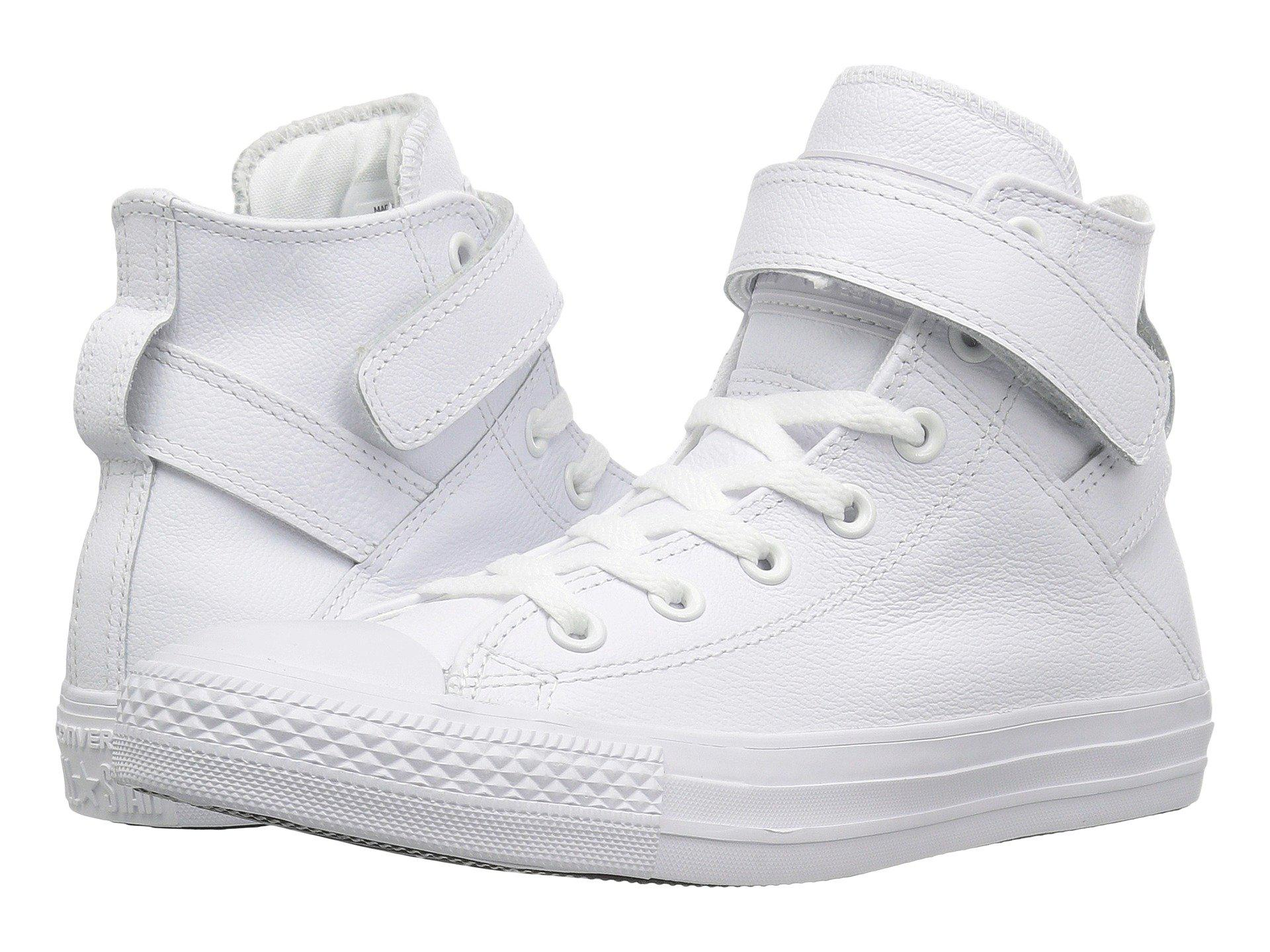 8095fbaf1af3 Lyst - Converse Chuck Taylor® All Star® Brea Mono Leather Hi in White