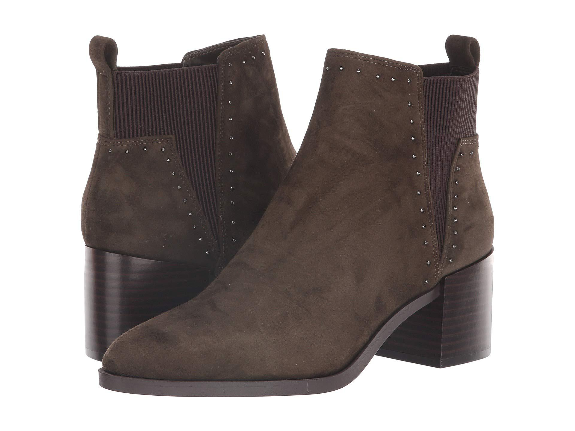 57392eb43c8cc Nine West Brown 'wutchu' Mid Heel Ankle Boots in Brown - Lyst