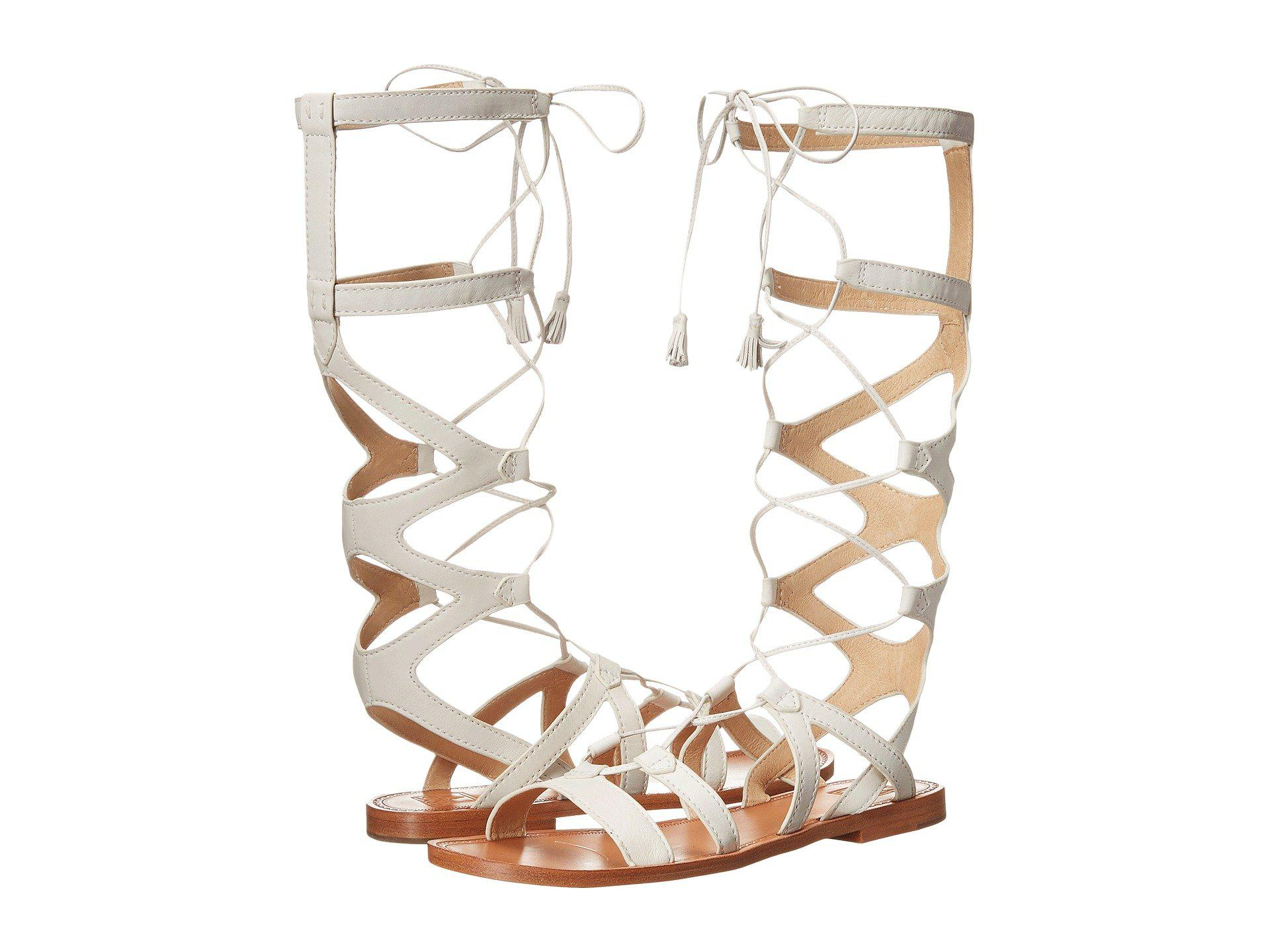 a54077a17e5 Lyst - Frye Ruth Gladiator Tall Sandal in White - Save 10%