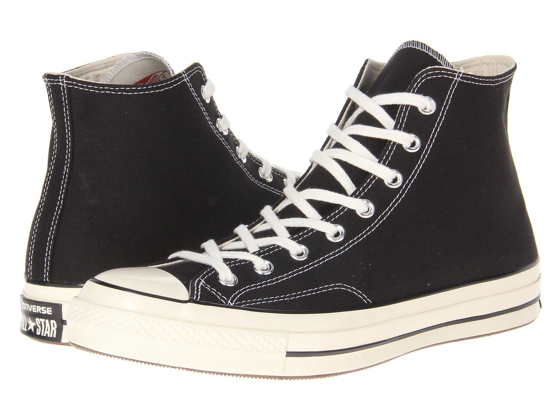 Lyst - Converse Chuck 70 Canvas High-top Sneakers in Black for Men 5d521cb0a