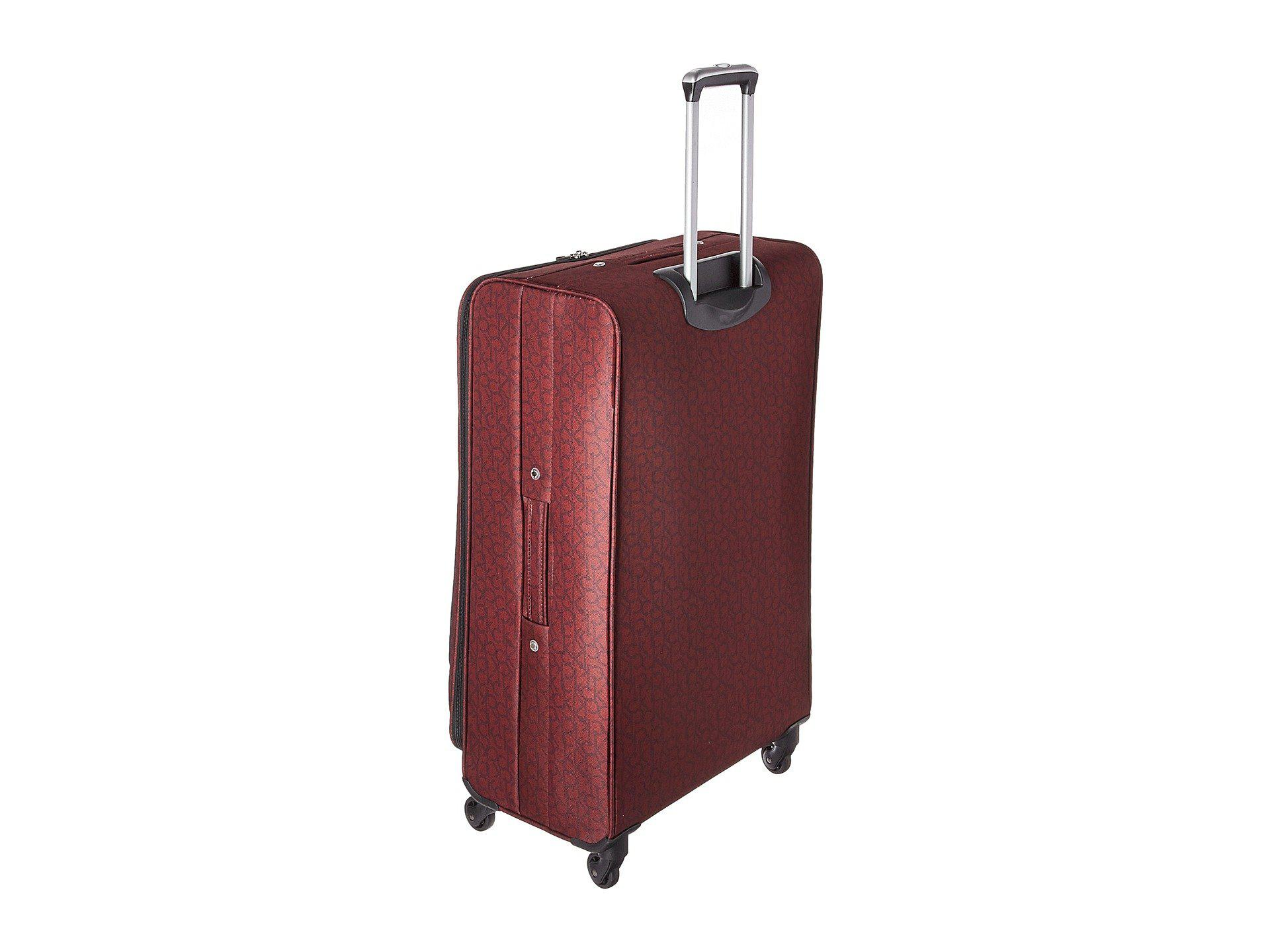 46520ad73 Calvin Klein Ck-620 Signature Softside 28 Upright Suitcase (burgundy ...