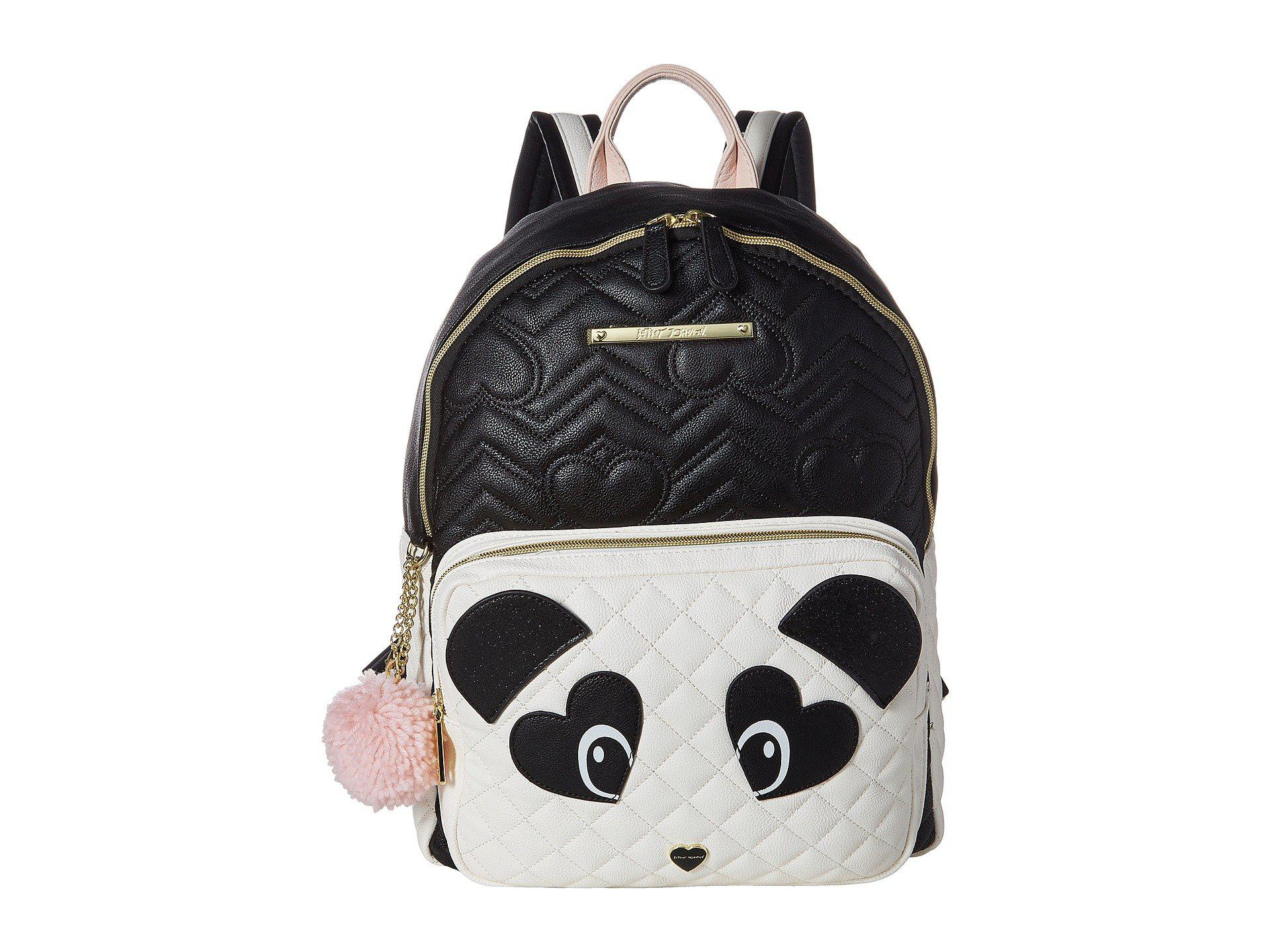 8a32bc82f209 Lyst - Betsey Johnson Cat Backpack in Black