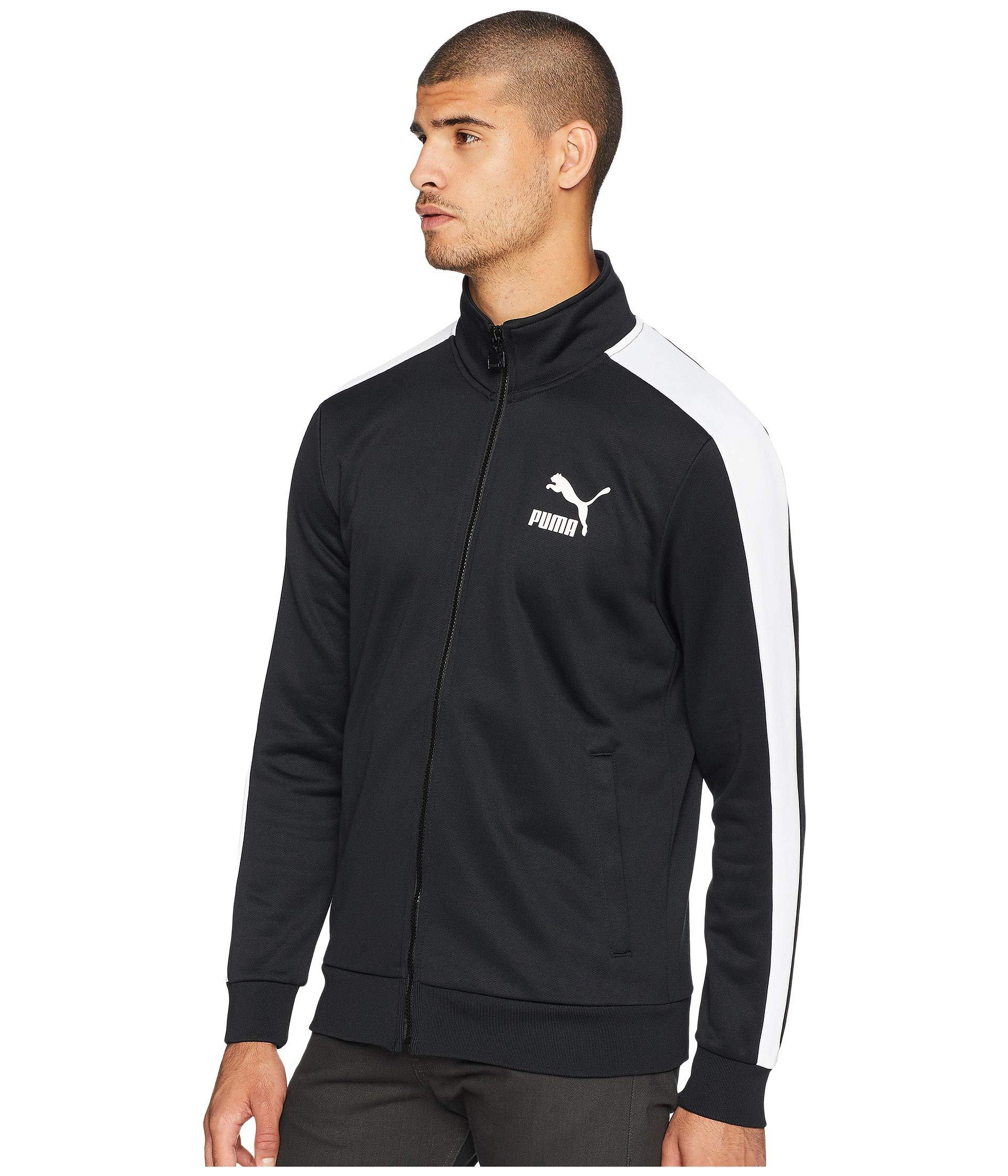 11d8bab55d73 Lyst - PUMA Classics T7 Track Jacket in Black for Men - Save 8%