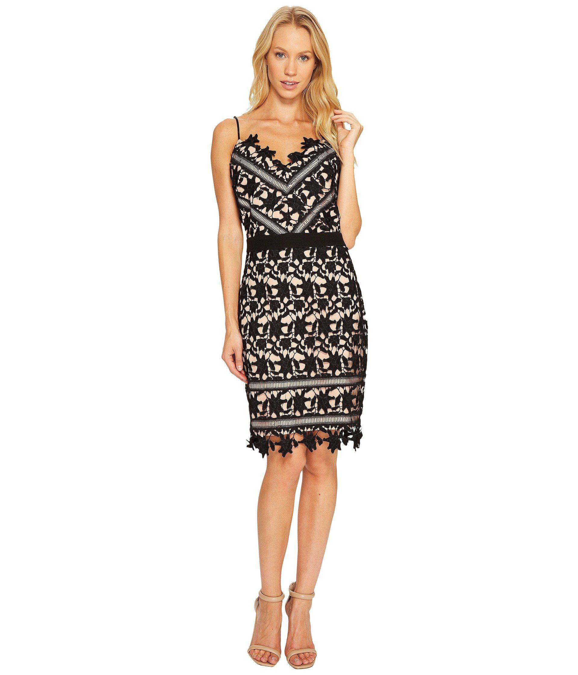 Lyst - Adelyn Rae Whitney Sheath Dress in Black 69e989c9f5
