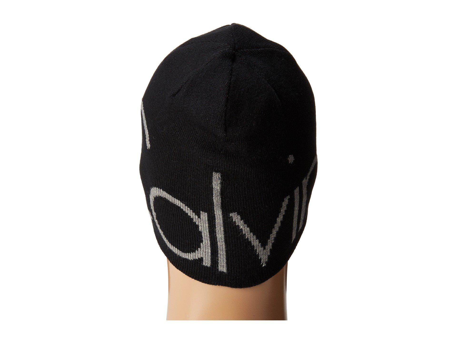 cbe56ed2202 Lyst - Calvin Klein Super Embossed Logo Reversible Hat in Black for Men
