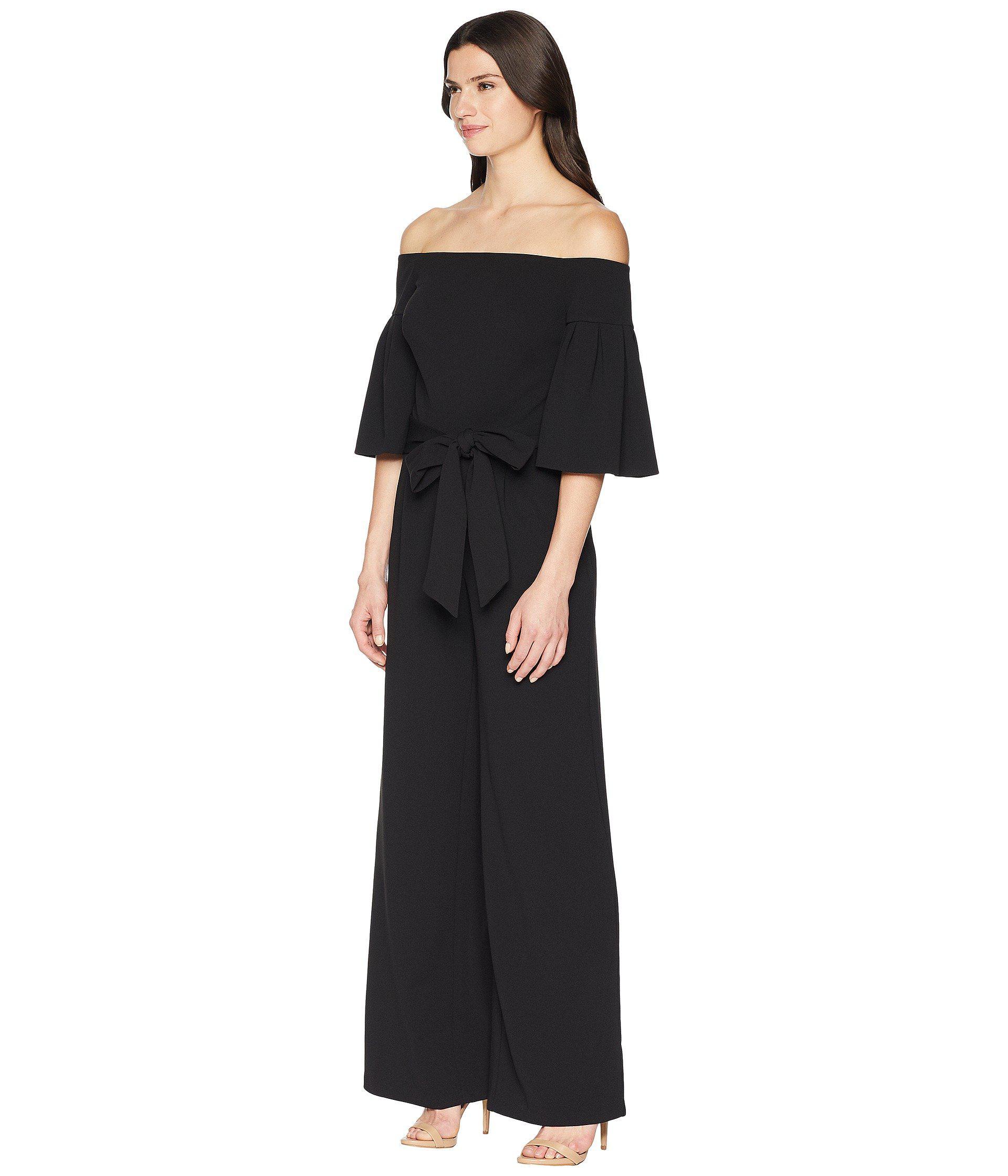 68362b501cc1 Lyst - Lauren by Ralph Lauren 130h Luxe Tech Crepe Ranada Jumpsuit in Black  - Save 65%