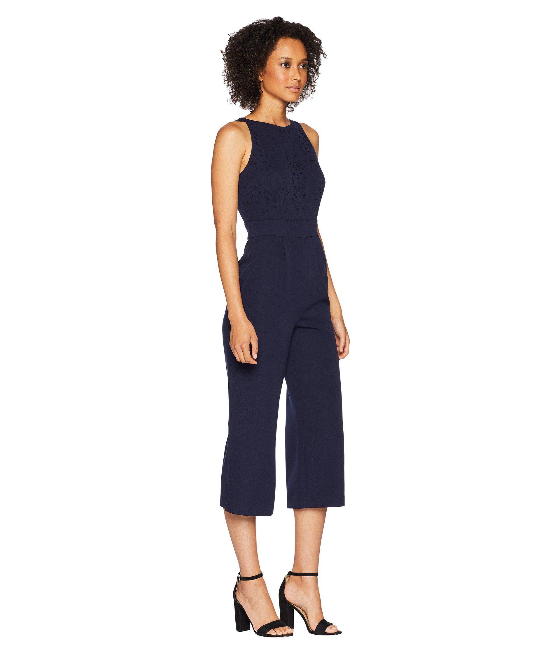 55052c71357b Tahari - Blue Lasercut Jumpsuit - Lyst. View fullscreen