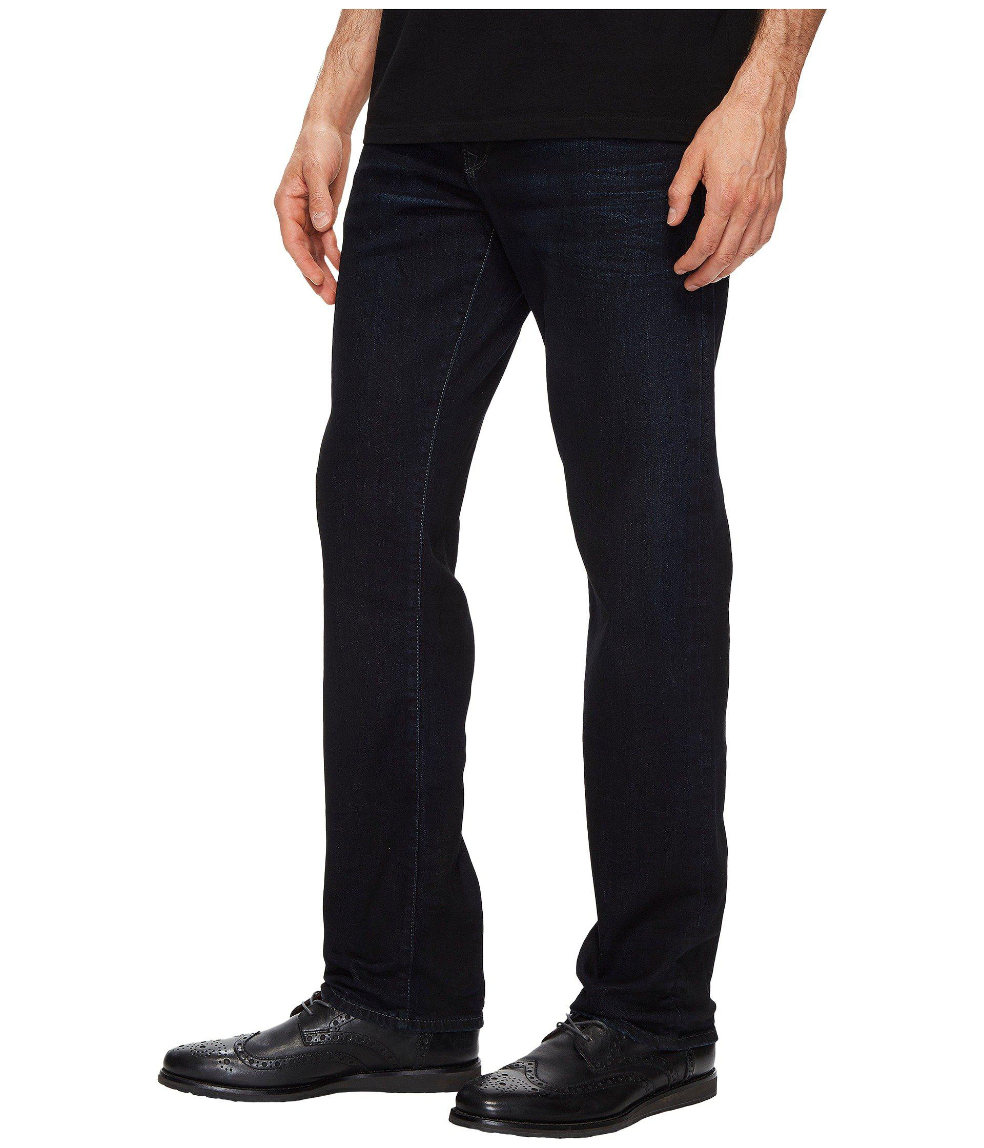 cfa25acdda84 Lyst - Mavi Jeans Zach Regular Rise Straight Leg In Coated Authentic  Vintage in Blue for Men